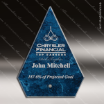 Javai Arrow Glass Blue Accented Arista Trophy Award Blue Accented Glass Awards