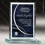 Machia Rectangle Glass Blue Accented Tri Color Award Blue Accented Glass Awards