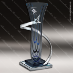 Glass Blue Accented Star Cosmic Sapphire Trophy Award Blue Accented Glass Awards