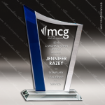 Glass Blue Accented Sail Zenith Series Trophy Award Blue Accented Glass Awards