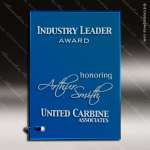 Tangelo Mirror Glass Blue Accented Rectangle Trophy Award Blue Accented Glass Awards