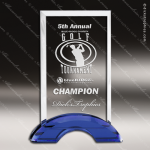 Machover Ringer Glass Blue Accented Rectangle Arch Trophy Award Blue Accented Glass Awards