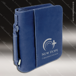 Embossed Etched Leather Bible/Book Cover -Blue/Silver Blue Silver Leather Items