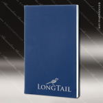 Embossed Etched Leather Mini Portfolio -Blue/Silver Blue Silver Leather Items
