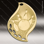 Medallion Gold Flame Series Bowling Medal Bowling Medals