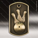 Medallion Dog Tag 3-D Series Bowling Medal Bowling Medals