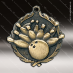 Medallion Wreath Series Bowling Medal Bowling Medals
