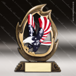 Kids Resin Flame Series Eagle Trophy Award Boy Scouts Trophy Awards