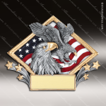 Kids Resin Diamond Plate Series Eagle Trophy Award Boy Scouts Trophy Awards