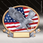 Kids Resin 3D Oval Series Eagle Trophy Award Boy Scouts Trophy Awards