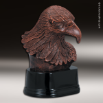 Premium Resin Bronze American Eagle Bust Trophy Award Bronze Eagle Trophy Awards