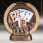 Kids Resin High-Relief Series Cards Trophy Awards - Poker Hand Card Game Trophy Awards