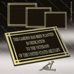 Cast Aluminum Plaques with Insert - Bronze and Gold - Copy Cast Aluminum Plaques with Exterior Plastic Insert