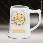 Engraved Ceramic 18 Oz. Presentation Wreath Mug White Gift Award Ceramic 18-21 Oz. Presentation Wreath Mugs