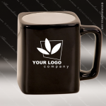 Engraved Ceramic 8 Oz. Coffee Mug Black Laser Etched Gift Ceramic 8 Oz. Square Coffee Mugs