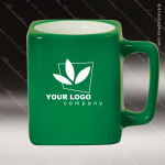 Engraved Ceramic 8 Oz. Coffee Mug Green Laser Etched Gift Ceramic 8 Oz. Square Coffee Mugs