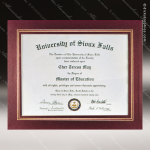 The Junice Certificate Holder Burgundy With Gold Foil Border Certificate Holders