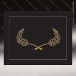 The Juno Certificate Holder Black With Gold Foil Border Certificate Holders