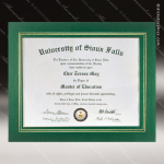 The Junice Certificate Holder Green With Gold Foil Border Certificate Holders