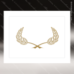 The Juno Certificate Holder White With Gold Foil Border Certificate Holders