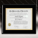 Engraved Black Piano Finish Plaque Insert Certificate Holder Certificate Plaque Collection