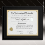 Engraved Black Matte Finish Laminate Plaque Insert Certificate Holder Certificate Plaques