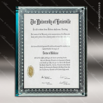 Engraved Acrylic Plaque Jade Certificate Holder Wall Placard Award Certificate Plaques
