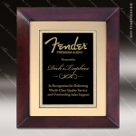 Engraved Cherry Hardwood Plaque Framed Black Plate Gold Border Cherry Finish Plaques