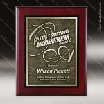 Engraved Cherry Finish Plaque Gold Recessed Zinc Plate Award Cherry Finish Plaques