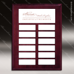 The Mottillo Mahogany Perpetual Plaque  12 Color Magnet Plates Cherry & Mahogany Perpetual Plaques