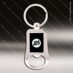Laser Etched Engraved Keychain Chrome Bottle Opener Black Gift Award Chrome Keychains