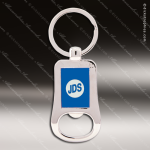 Laser Etched Engraved Keychain Chrome Bottle Opener Blue Gift Award Chrome Keychains