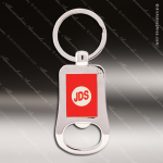 Laser Etched Engraved Keychain Chrome Bottle Opener Red Gift Award Chrome Keychains