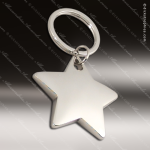 Laser Etched Engraved Keychain Chrome Silver Plated Star Gift Award Chrome Keychains