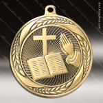 Medallion Laurel Wreath Series Religious Cross Medal Church Religious Medals