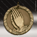 Medallion XR Series Religious Medal - Praying Hands Church Religious Medals