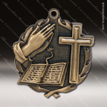 Medallion Wreath Series Religious Medal - Bible - Cross Church Religious Medals