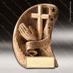 Kids Resin Curve Action Series Religion Cross Praying Hands Trophy Awards Church Religious Trophy Awards