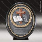 Kids Resin Black Oval Series Religion Trophy Awards Church Religious Trophy Awards