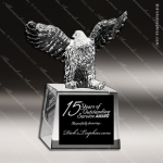 Crystal  Rising Eagle Trophy Award CIP Crystal Trophy Awards