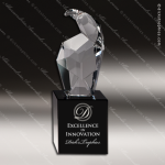 Crystal Black Accented Eagle Head Trophy Award CIP Crystal Trophy Awards