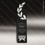 Crystal Black Accented Laurel Trophy Award CIP Crystal Trophy Awards