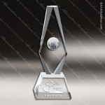 Crystal  Diamond Globe Trophy Award CIP Crystal Trophy Awards