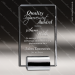 Crystal Silver Accented Tower Chrome Base Trophy Award CIP Crystal Trophy Awards