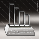 Crystal  Success Bar Graph Trophy Award CIP Crystal Trophy Awards