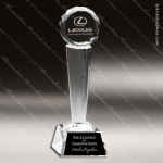 Crystal  Circle On Tower Trophy Award Circle Round Shaped Crystal Awards