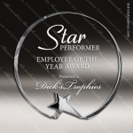 Crystal  Circle Star Base Trophy Award Circle Round Shaped Crystal Awards