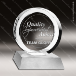 Crystal Silver Accented Circular Achievement Trophy Award Circle Round Shaped Crystal Awards