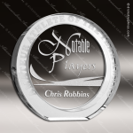 Crystal  Clear President Circle Trophy Award Circle Round Shaped Crystal Awards