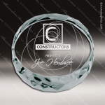 Mabus Deskweight Glass Jade Accented Round Circle Paperweight Award Circle Round Shaped Glass Awards